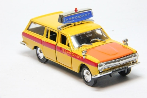 GAZ-2402 Volga Aeroflot Escort orange Agat Mossar Tantal 1:43
