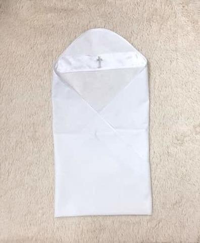 Крестильная пеленка Великолепие белая