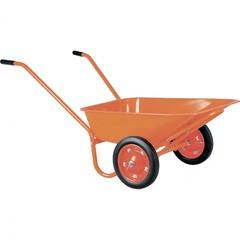 Тачка садово-строительная ТСО2-02-01, крашенная , цельнолитые колеса, грузоподъемность 120 кг, объем 90 л Россия