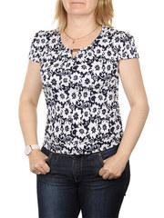 A7-6 блузка женская, темно-синяя