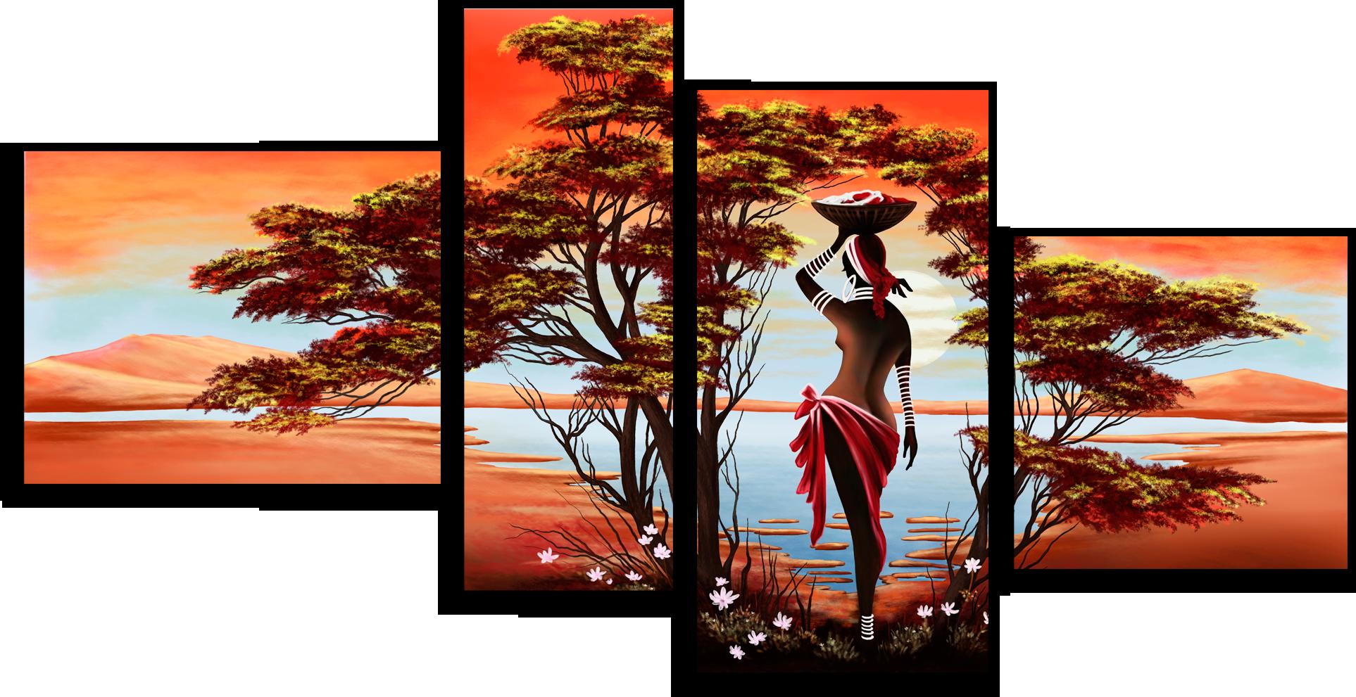 """Люди Модульная картина """"Экзотическая Африка"""" М4.png"""