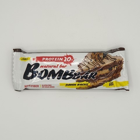 Батончик Natural Bar вкус Датский бисквит BOMBBAR, 60 гр