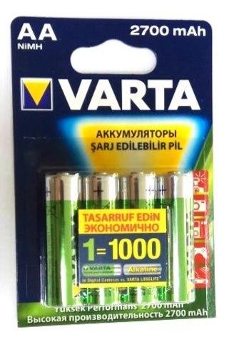 5706 Аккумулятор к-т4 VARTA AA R2U 2700mAh 1/10/50