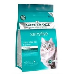 ARDEN GRANGE ADULT SENSITIVE CAT FOOD OCEAN WHITE FISH AND POTATO 4 кг