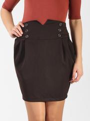 5507-1 юбка коричневая