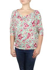 B351-15z блузка женская, зеленая