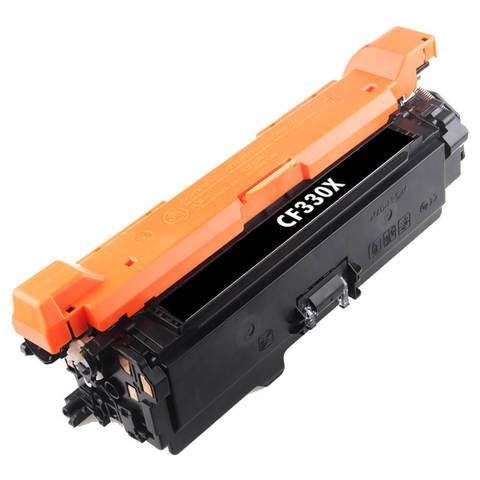 Совместимый картридж CF330X для HP LJ Color Enterprise M651 20.5K Black Gray Box