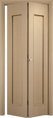 Дверь складная Верда С-17 (2 полотна), цвет беленый дуб, глухая
