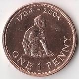 K5168, 2004, Гибралтар, 1 пенни 300 лет британского завоевания