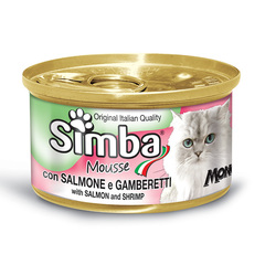 Simba Cat Mousse with Salmon and Shrimp