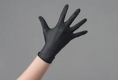 Перчатки нитрил черные L, 100 шт