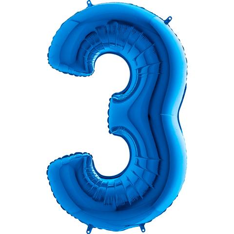 Цифра 3 (Синяя)
