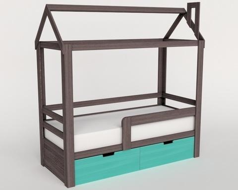 Кровать-домик ИТАКО левая