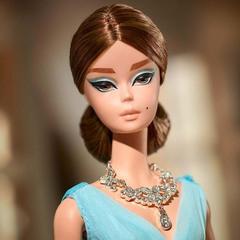 Барби Силкстоун в синем шифоновом бальном платье– купить в ...