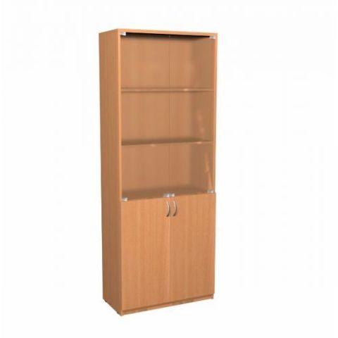 Шкаф А-310 двери стекло, бук бавария