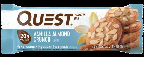 Протеиновые батончики Quest Bar Vanilla Almond Crunch (Ваниль-миндаль), 12 шт
