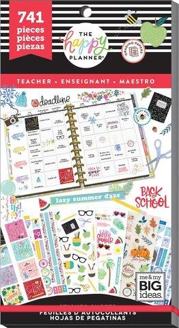 Блокнот со стикерами -Value Pack Stickers - Teacher - One Happy Year- 741 шт