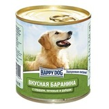 Happy Dog  Консервы для собак Баранина с сердцем, печенью и рубцом 1х750 гр. (72202)