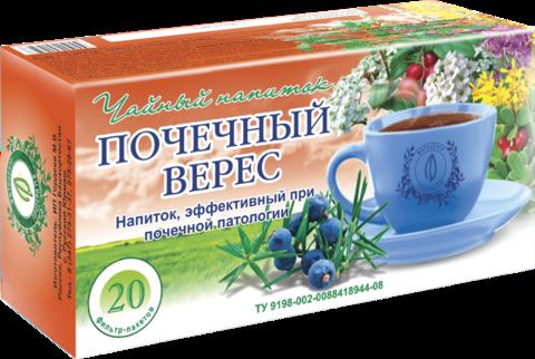 Чайный напиток «ПОЧЕЧНЫЙ ВЕРЕС», ф/п, 20шт, кор.  (ИП Гордеев М.В.)