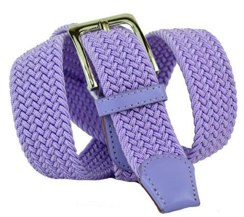 Ремень-резинка текстильный эластичный брючный светло-фиолетовый (сиреневый) 35 мм 35Rezinka-103