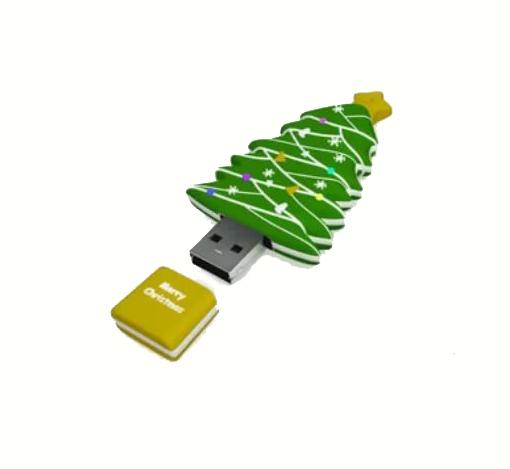 usb-флешка елочка новогодняя