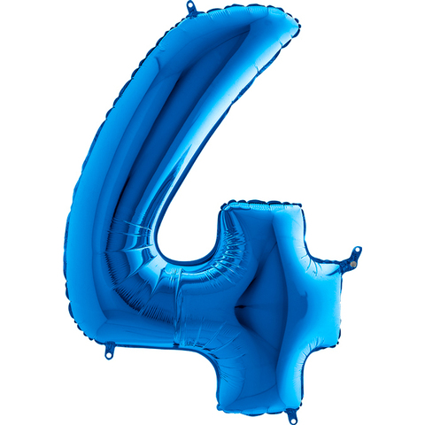 Цифра 4 (Синяя)
