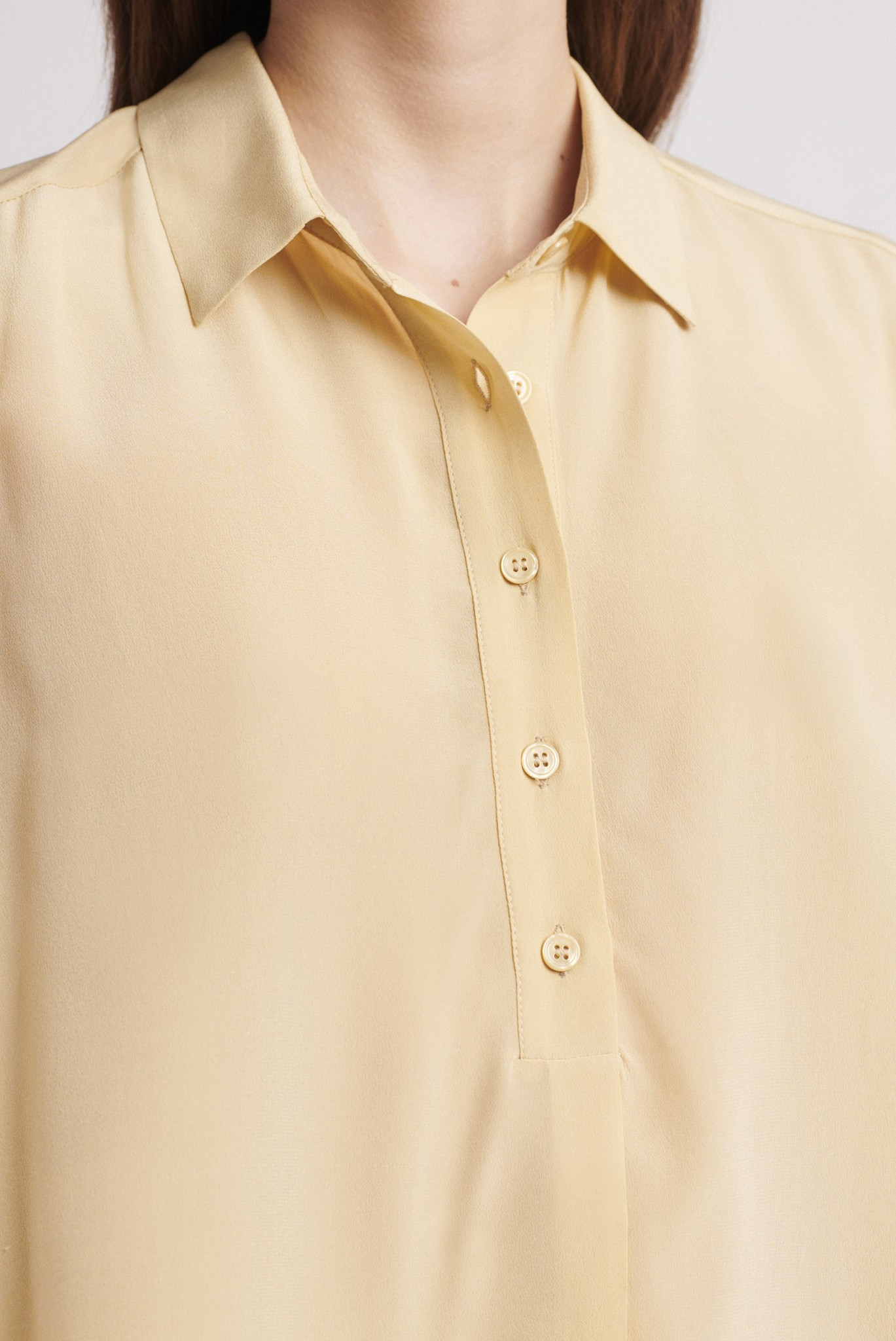 NADEGE - Шелковая рубашка с коротким рукавом
