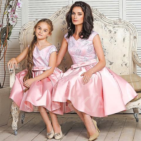 18a62eb9cf948ab Торжественные одинаковые платья маме и дочке