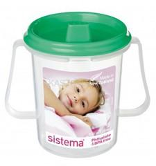 Детская чашка Sistema с носиком, зеленая 250 мл