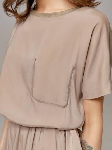 Женское серое платье LE TRICOT - фото 4