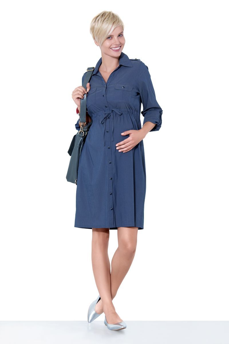 Платье 05529 индиго