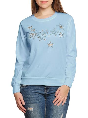 37754-6 Толстовка женская, голубая