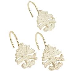 Набор из 12 крючков для шторки Carnation Home Fashions Fleur di Lis Brushed Gold