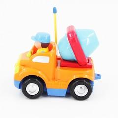 Детская оранжевая радиоуправляемая машина - бетоновоз - 6615-O