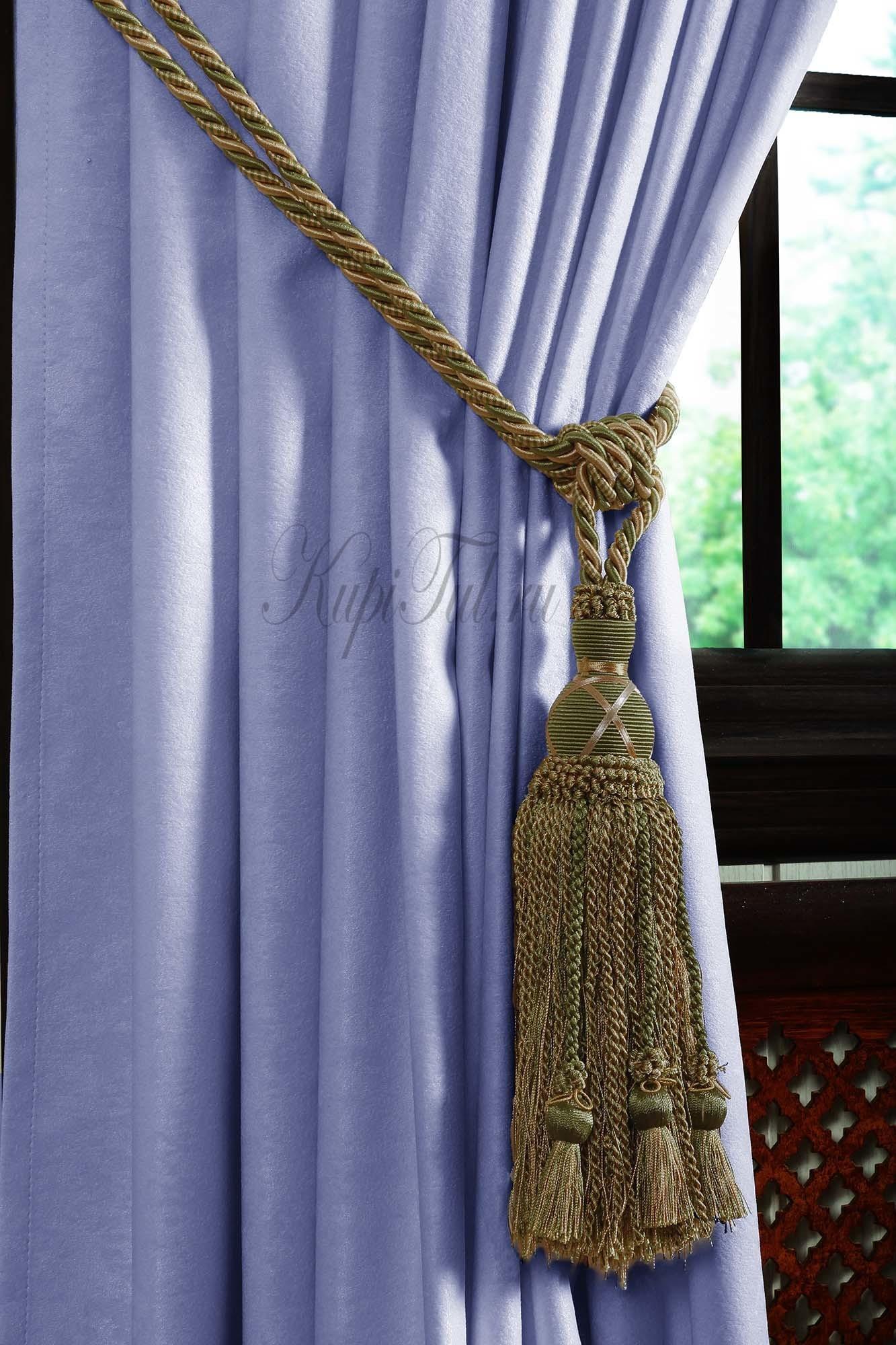 Длинные шторы. Mild (голубой).