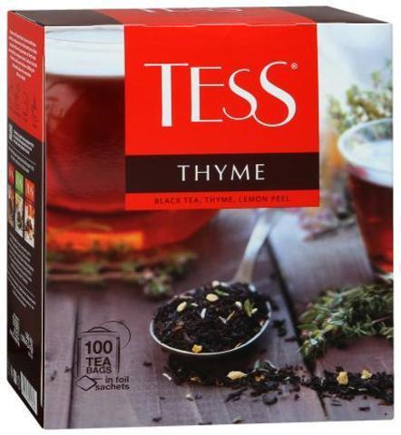 """Чай черный """"Tess"""" С чабрецом и лимон 100*1,8 г"""