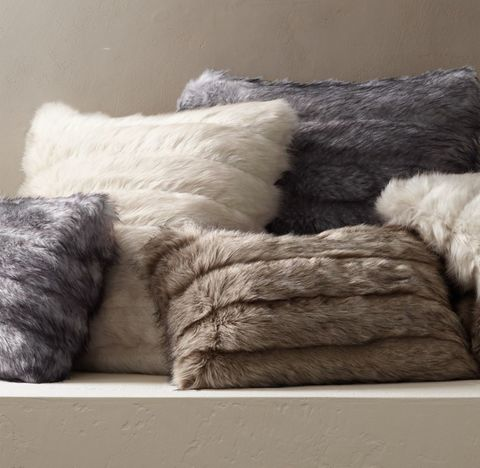 Channel Faux Fur Pillow Cover & Floor Cushion