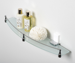 Полка в ванную WasserKRAFT Leine K-5044WHITE стеклянная с бортиком