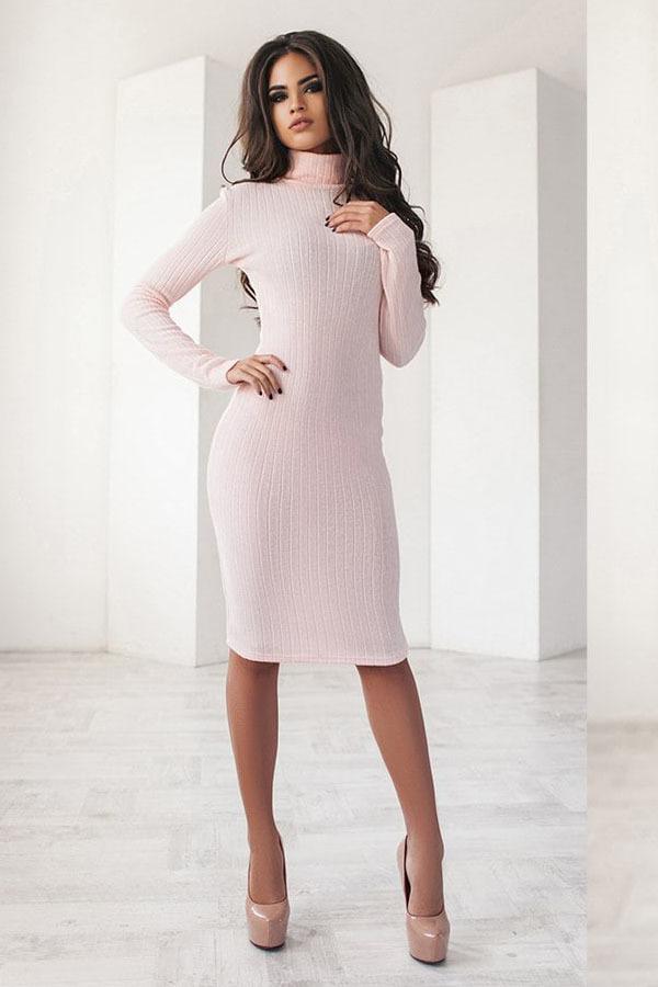 7ab62b26fa1 Теплое трикотажное платье миди