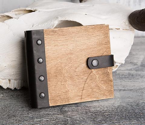 Деревянный блокнот ручной работы с крафт бумагой