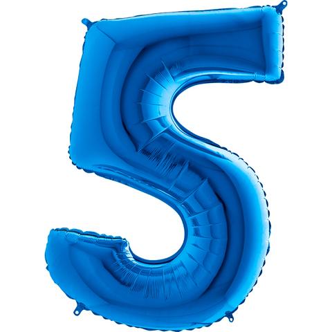 Цифра 5 (Синяя)