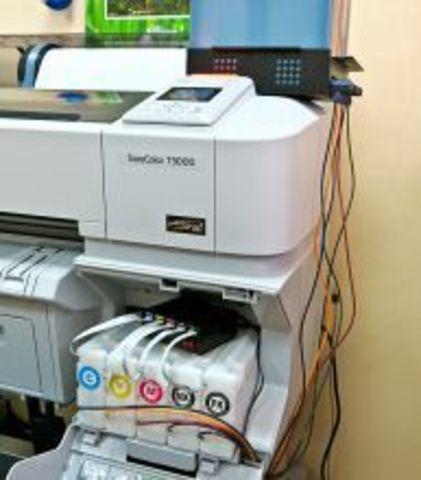 Комплект СНПЧ для Epson SC-T3000/T5000/T7000 с декодером.