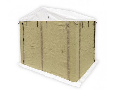 Палатка сварщика 2.0х2.0 ПВХ+брезент (каркас из квадратной трубы 20х20 мм)