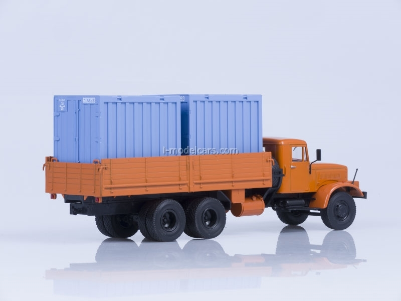 KRAZ-257 B1 board and 2 containers of 5 tons AutoHistory 1:43