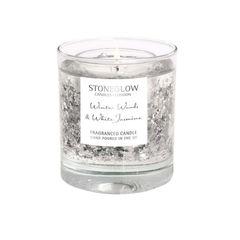 Ароматическая свеча 9х8см Stoneglow Зимнее дерево и белый жасмин в циллиндрическом стаканчике