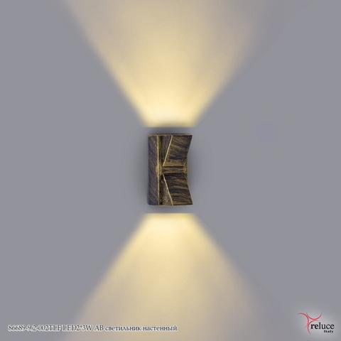 86689-9.2-002TLF LED2*3W AB светильник настенный