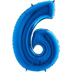 Цифра 6 (Синяя)