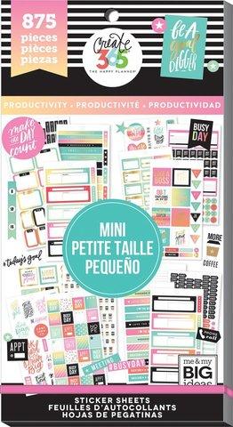 Блокнот со стикерами для ежедневника Create 365 Happy Planner Sticker Value Pack- PRODUCTIVITY - 875 шт