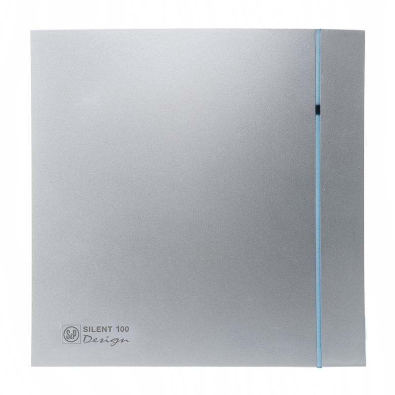 Накладные вентиляторы S&P серия Silent Design Вентилятор накладной S&P Silent 300 CHZ Plus Design 3C Silver (таймер, датчик влажности) сильвер.jpeg