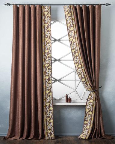 Комплект штор Диама коричневый